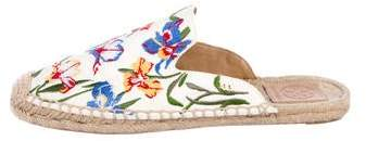 Tory Burch Canvas Espadrille Mules