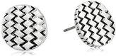The Sak Basket Weave Silver Stud Earrings