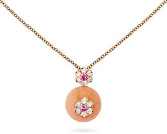 David Morris Berry Flower Pink Bead Pendant