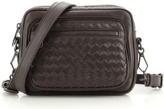 Bottega Veneta Front Pocket Crossbody Bag Leather and Intrecciato Nappa Small