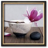 "Art.com Magnolia and Bowl"" Framed Art Print by Amelie Vuillon"