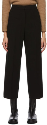 S Max Mara Black Crepe Cropped Undici Trousers