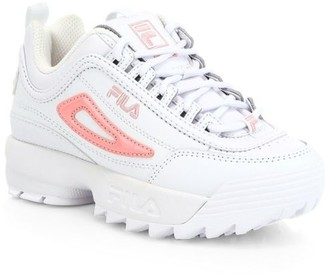 Fila Girl's Disrupter Patent Flag Chunky Sneakers