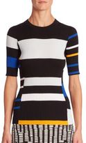 Proenza Schouler Ribbed Colorblock Pullover