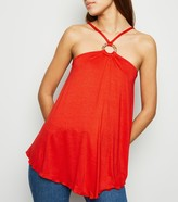 New Look Hanky Hem Ring Back Cami