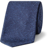 Lab by Pal Zileri Textured Plain Slub Silk Tie