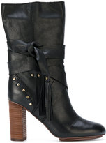 See by Chloe knot detail boots - women - Leather/rubber - 37