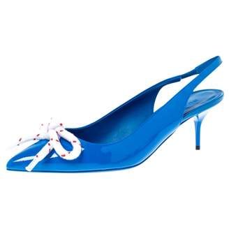 Burberry Blue Leather Heels