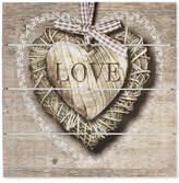 Graham & Brown Love Print on Wood