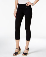 Style&Co. Style & Co. Petite Ella Pull-On Deep Black Wash Capri Jeans, Only at Macy's