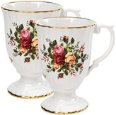 """Royal Albert Old Country Roses"""" Fluted Mugs, Set of 2"""