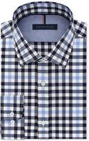 Tommy Hilfiger Men's Slim-Fit Blue Check Dress Shirt