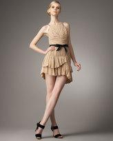 Robert Rodriguez Black Label Lynda Pleated Silk Dress