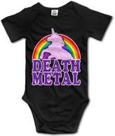 Niceoodbaby Death Metal Unicorns Rainbow Infant Baby Toddler Onesie Babysuit 6 M