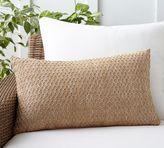 Pottery Barn Honeycomb Faux Fiber Indoor/Outdoor Lumbar Pillow