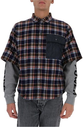 DSQUARED2 Contrast Pocket Detail Layered Check Shirt
