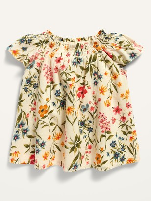 Old Navy Floral Smocked Top for Toddler Girls