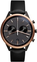 Uniform Wares C41 Rose Gold Pvd-plated Chronograph Watch