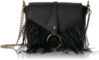 The Fix Amazon Brand Courtney O Ring Feather Cross-Body Bag