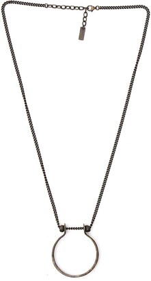 Saint Laurent Ring Pendant Necklace
