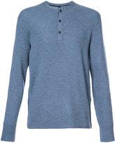 Rag & Bone contrast henley jumper