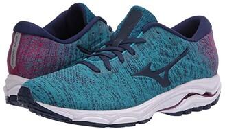 Mizuno Wave Inspire 16 WAVEKNITtm (Enamel Blue/Medieval Blue) Women's Running Shoes