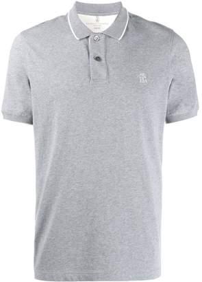 Brunello Cucinelli contrast trim polo shirt