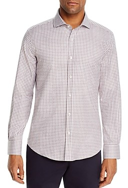 Dylan Gray Heathered Gingham Classic Fit Shirt