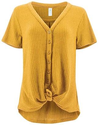 Aventura Clothing Ayla Short Sleeve (Goldon Apricot) Women's Clothing