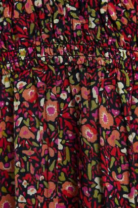 BA&SH Sofia Cutout Floral-print Crepe Maxi Dress