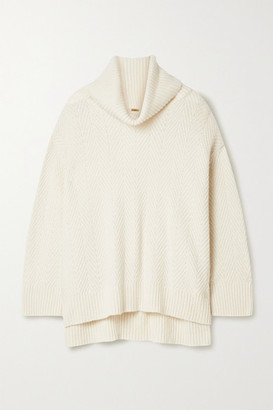 Adam Lippes Cashmere And Silk-blend Turtleneck Sweater - Ivory
