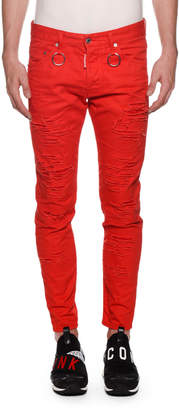 DSQUARED2 Men's Skinny Dan Rip Jeans