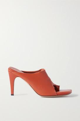 Bottega Veneta Leather Mules - Brick