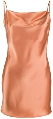 Nanushka Draped-Neck Slip Dress