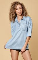 MinkPink Button Front Shirt