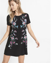 Express black embroidered shift dress