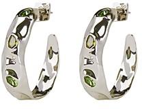 Alexis Bittar Future Antiquity Multi-Crystal Crumpled Hoop Earrings