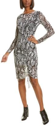 Bebe Mesh Off-The-Shoulder Mini Dress