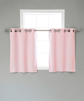 Best Home Fashion Light Pink Blackout Valance - Set of Two