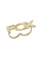 "Wildfox Couture Jewelry Two-Finger ""Wild"" & ""Fox"" Ring Set in Gold"