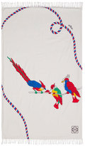 Loewe 120x180cm Parrots Scarf, White