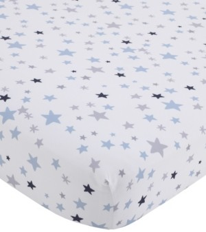NoJo Star Print Fitted Crib Sheet Bedding