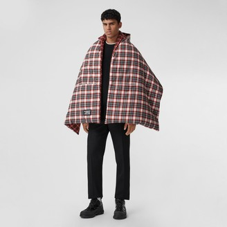 Burberry Reversible Tartan Cotton Puffer Poncho