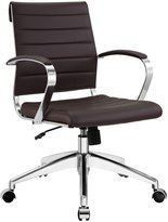 LexMod Jive Ribbed Mid Back Executive Office Chair, Vinyl