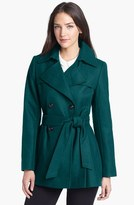 Via Spiga Short Wool Blend Trench Coat (Online Only)