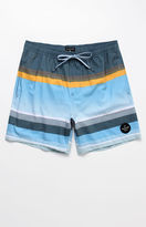 """Quiksilver Swell Vision Striped 17"""" Swim Trunks"""