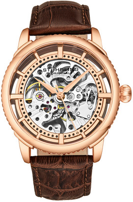Stuhrling Original Men's Leather Watch