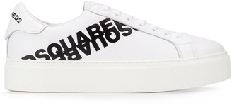 DSQUARED2 Printed Logo Low-Top Sneakers