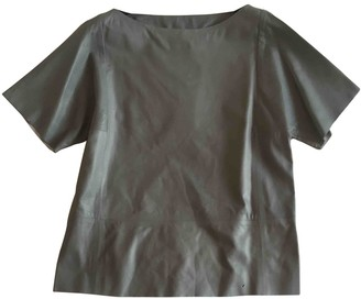 Trussardi Grey Leather Top for Women