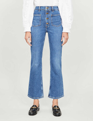 Maje Passion slim-fit straight high-rise jeans